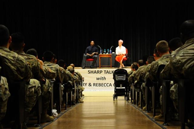Terry Crews talks SHARP with 2IDRUCD Soldiers