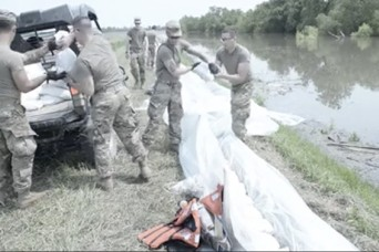Illinois National Guard helps civilian agencies fight flooding