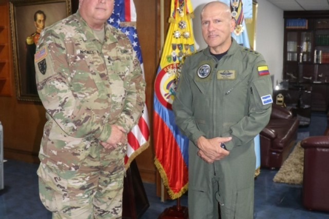 U.S. Army Maj. Gen. Van McCarty, the adjutant general (TAG) for South Carolina, traveled to the Republic of Colombia for the first time as the TAG as part of the South Carolina National Guard's State Partnership Program, May 2019. The South Carolina National Guard and the Republic of Colombia have a long-standing relationship through the National Guard's State Partnership Program, formalized in July 2012, that focuses on sharing ideas and practices between the partner nations' militaries.