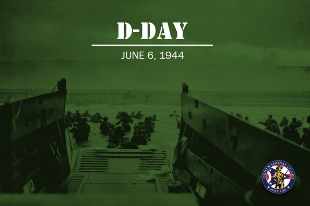 On June 6, 1944, more than 160,000 allied troops landed along a 50-mile stretch of beaches at Normandy, France. Two Ohio National Guard units, the 112th Combat Engineer Battalion, and 987th Field Artillery Battalion were involved in the D-Day invasion. The 112th would land at Omaha Beach in support of the 1st and 29th Infantry Divisions, where it would receive the Presidential Unit Citation.