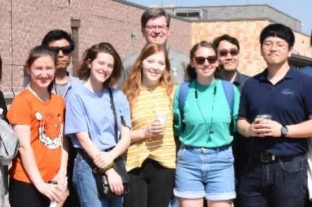 Students from the University of Idaho and Kyung-Hee University Seoul visit Camp Humphreys, May 23.