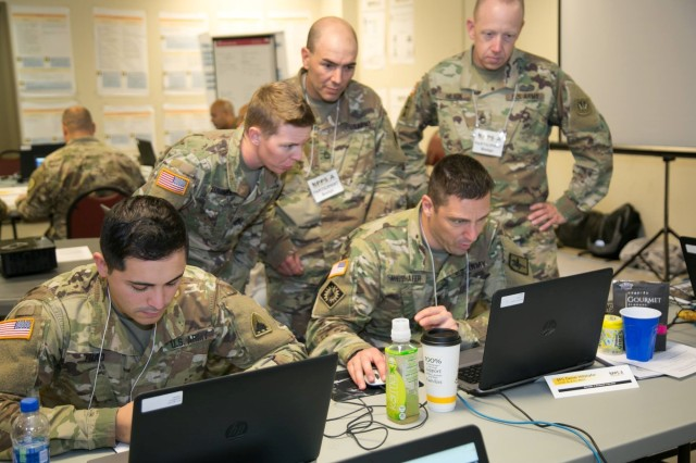 Army National Guard Soldiers learn about the Integrated Personnel and Pay System - Army, a human resources enterprise resource planning system. ERPs organize data and are used by Soldiers and civilians daily. (U.S. Army photo by Staff Sgt. Frank O'Brien)