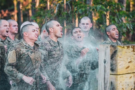 Soldiers undergo Malvesti Obstacle Course, day four of Ranger School at Fort Benning, Ga., May 23, 2019.