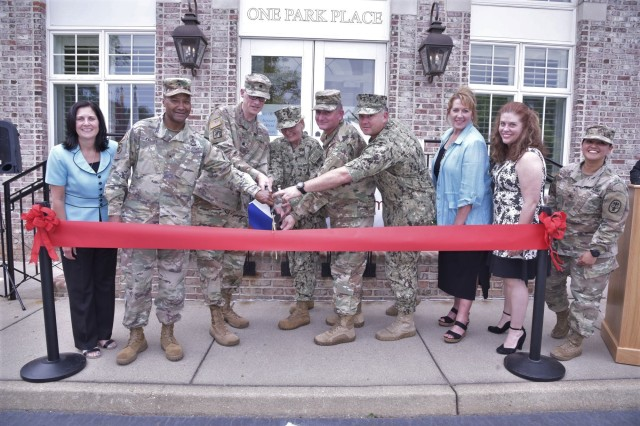 A ribbon cutting ceremony was held for the new Williamsburg Medical Home, Williamsburg, Va., May 17, 2019. The 18,000 square foot, two-story facility is an extension of Joint Base Langley-Eustis' McDonald Army Health Center and is now open for enrolled military family members.