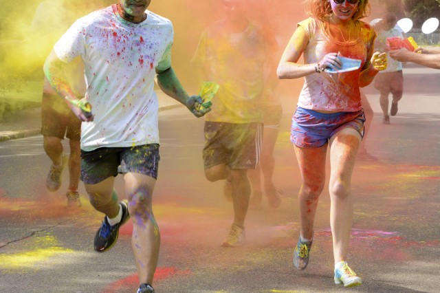 Fort Knox's U.S. Army Cadet Command will host a Pride In All Who Serve 5K Fun Color Run/Walk at the Libbey Hall Running Track 9:30-1130 a.m. June 21. About 40 people ran in a similar event at the U.S. Army Garrison Bavaria -- Garmisch Community's Color Run/Walk June 26, 2015, in observance of Pride Month.
