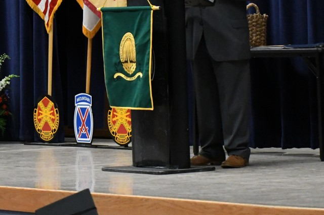 Joe Agresti, Fort Drum Education Center education services officer, addresses the graduates during the Annual Graduation Recognition Ceremony on June 7 at the Multipurpose Auditorium. (Photo by Mike Strasser, Fort Drum Garrison Public Affairs)