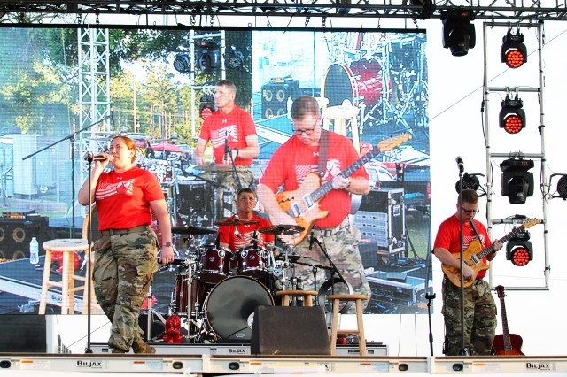 The Maneuver Center of Excellence Band from Fort Benning, Georgia, performs at last year's Freedom Fest.