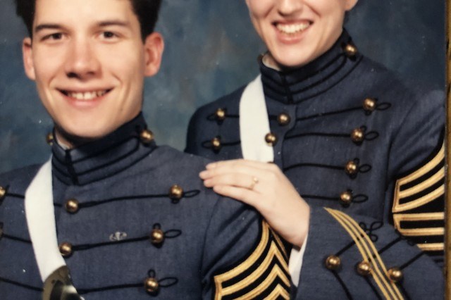 Cadet photo: Cadets Carleton Lee and Bethany Ballard (Spring 1992, West Point, NY)