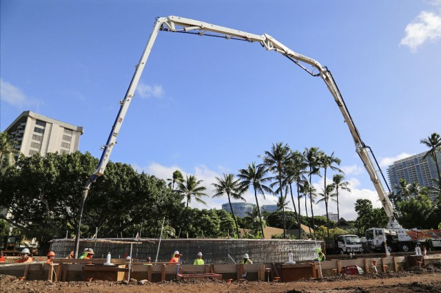 The new outdoor aquatics complex at AFRC Resorts' Hale Koa Hotel on Waikiki Beach, Hawaii, is scheduled to open in late summer 2019.