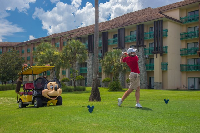 Golfers enjoy the ambiance at AFRC's Shades of Green Resort at Walt Disney World Resort in Orlando, Florida.