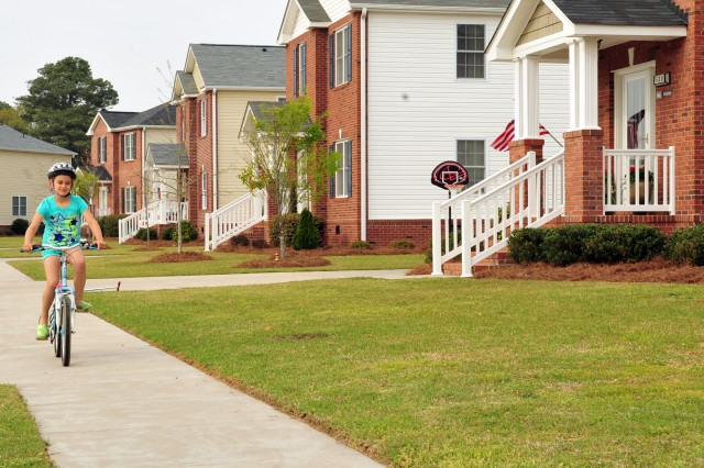 Military housing at Seymour Johnson Air Force Base, N.C.