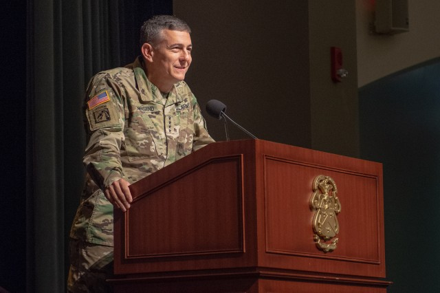 """General Stephen J. Townsend, Commanding General of the U.S. Army Training and Doctrine Command, challenged 1,100 graduates of Command and General Staff Officers Course 2019 to do three things -- elevate team play, help commanders to reinvigorate mission command, and coach junior officers. Townsend told the graduating students they were leaving CGSC much better prepared than he was when he graduated from the course 25 years ago. He also said they leave with an excellent professional network of peers and friends. """"You can't even imagine the situations where this network of friends and fellow students will come in handy in years ahead in your career but it will, mark my words,"""" said Townsend. """"Your first responsibility as a professional officer is to master our trade. Your core competency is to fight and win our nation's wars,"""" he said."""