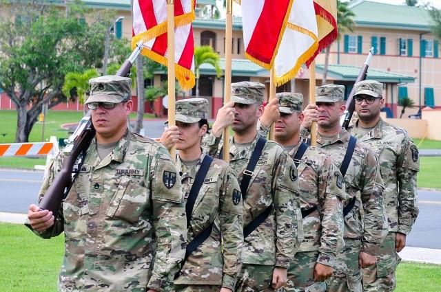 Change of Command held at Fort Buchanan Puerto Rico