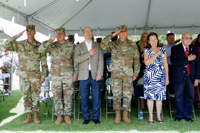 The United States Army Garrison Fort Buchanan conducted the Change of Command Ceremony, in which Colonel Guy D. Bass relinquished command of the only federal military installation in Puerto Rico to Colonel Joseph B. Corcoran III, June 5, 2019. The ceremony, hosted by Brenda Lee McCullough, Director IMCOM (Installation Management Command) - Readiness, was held at Soldier's Plaza and attended by government officials, representatives of federal agencies, business sector, veterans organizations, officers and non-commissioned officers of all armed forces in Puerto Rico, civilian employees and distinguished guests from the local community.