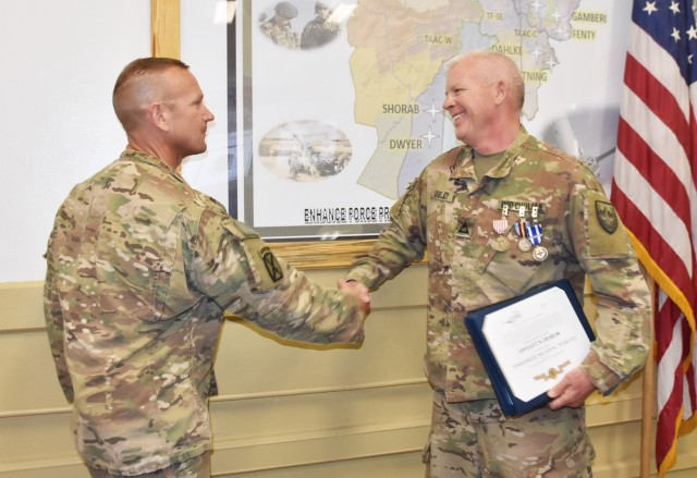 Lovejoyed honored for service in Afghanistan
