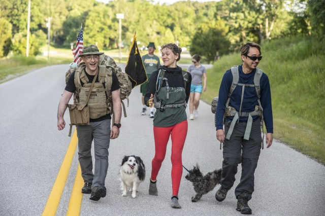 Soldiers, civilians, and family members with U.S. Army Human Resources Command participated in a Turtle Walk at Fort Knox June 15, 2019, to build esprit de corps and encourage command fitness.