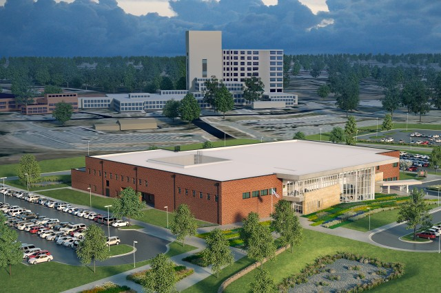 The new Ireland Army Health Clinic will be 75% smaller than the hospital was and will contain the Primary Care clinic, Specialty Care clinics, the Behavioral Health clinic and several supporting departments.