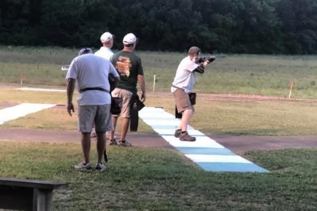 Layne Merritt, U.S. Army Combat Capabilities Development Command Aviation & Missile Center Aviation Development Directorate acting director, shoots in the Alabama Skeet Shooting Association 2019 State Skeet Championship, May 31 to June 2 in Childersburg.