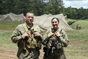 Field exercise a family campout for two Pennsylvania Guard members