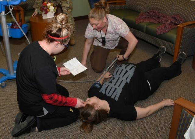 Fort Drum OB/GYN staff train for emergency during mock drill