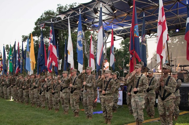 Fort Knox Soldiers will honor the nation's 50 states and six territories with a Salute to the Nation ceremony beginning at 9 p.m., followed by a fireworks display about 10:15.