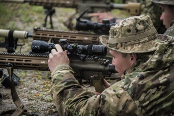 82nd Airborne snipers jump, testing new Compact Sniper rifle system