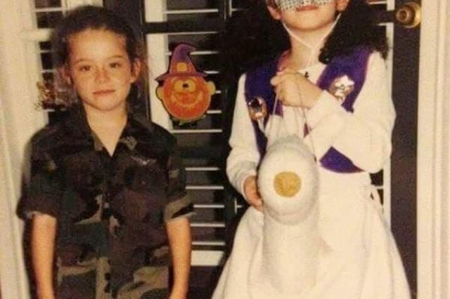 Cpt. Samantha Warner and her sister Melissa.