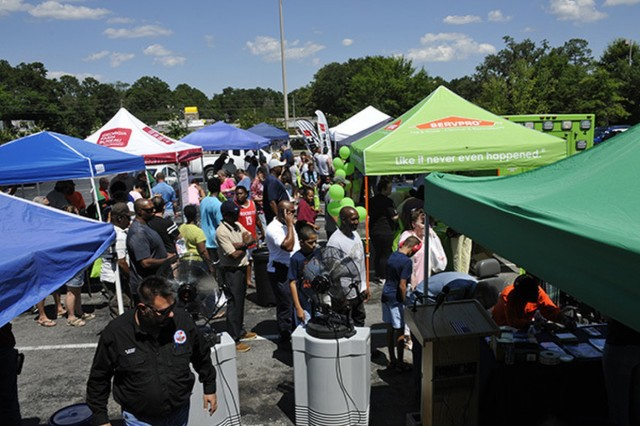 The Liberty County Hurricane Preparedness Expo in Hinesville drew large crowds June 14, in their effort to help increase severe weather awareness.