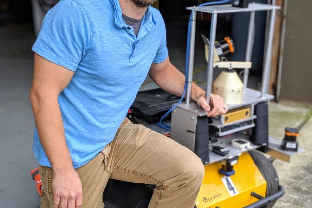 Army roboticist Phil Osteen envision robots of the future with autonomous capabilities for the U.S. Army CCDC Army Research Laboratory at Aberdeen Proving Ground, Maryland.