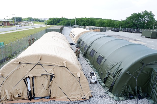 The new type of tent allows the medical detachments to be fully operational in much less time and it will improve the readiness in support of the Fight Tonight Mission.