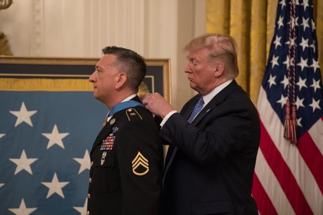 President awards Medal of Honor to Fallujah hero
