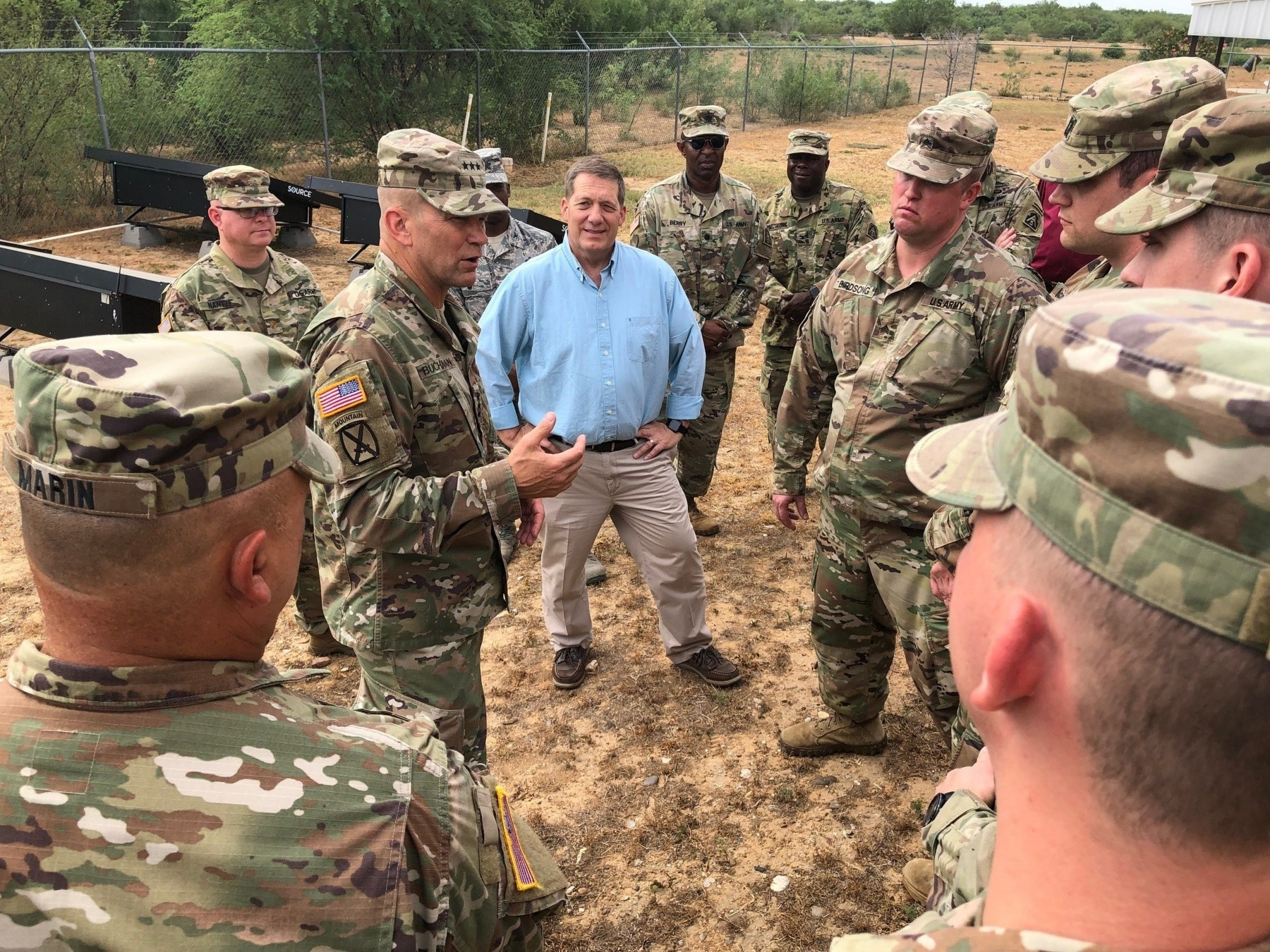 Army Reserve civil affairs Soldiers train, help Texas