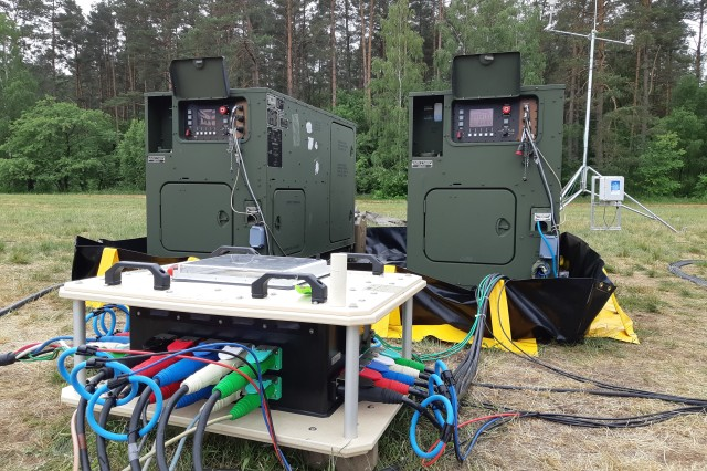 A multinational tactical microgrid during Capable Logistician 2019 in June 2019 at Drawsko Pomorskie Training Grounds, Poland.