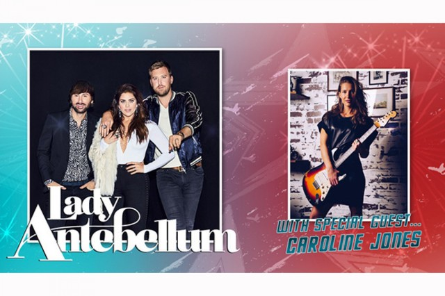 July 4, Lady Antebellum and special guest Caroline Jones take the stage at Donovan Field on Fort Stewart.  The concert is free and open to the public. Admittance starts at 3 p.m.  The show starts at 7 and fireworks follow around 10 p.m. (U.S. Army Graphic Courtesy of DFMWR)