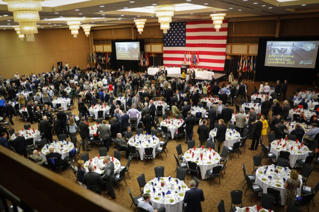 More than 800 business, community and military leaders attend the Armed Forces Celebration Week Luncheon at the Von Braun Center June 26, 2019. The annual luncheon is hosted by the Huntsville/Madison County Chamber of Commerce as part of a week of events honoring veterans and active military.