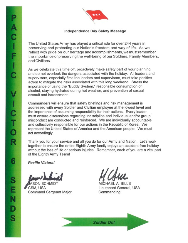 Independence Day Safety Message