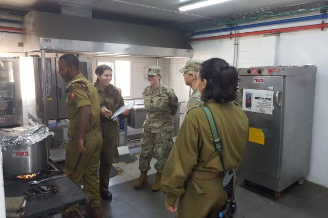 Soldiers from PHA-I and IDF inspecting the dining facility.