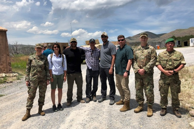 Group Photo of 341st Military Intelligence soldiers and 6 Military Intelligence Battalion professional at Camp Williams, Utah on June 13, 2019.