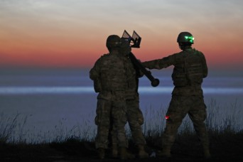 US Soldiers, allies participate in night fire exercise