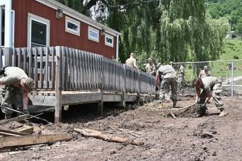W. Va. Guard responds to flooding in Harman