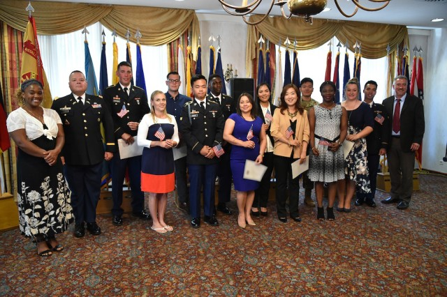 Twelve members of the USAG Bavaria community will be celebrating freedom and independence this 4th of July as newly, naturalized United States citizens. The citizens naturalized at the ceremony originally come from Ghana, South Korea, Nicaragua, Venezuela, Russia, Philippines, Moldova, Vietnam, Germany and Costa Rica.