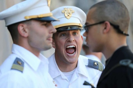 One of the U.S. Military Academy at West Point's most time-honored traditions, new cadets are required to report to the senior cadets during Reception Day to demonstrate fundamental military skills under pressure. More than 1,200 cadets reporting on ...