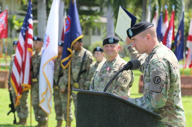 Pacific Pride leader shares gift of history during change of command