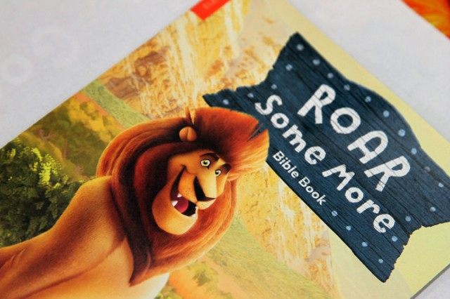 Children were provided a Bible stories booklet, which reflected the Roar! theme.