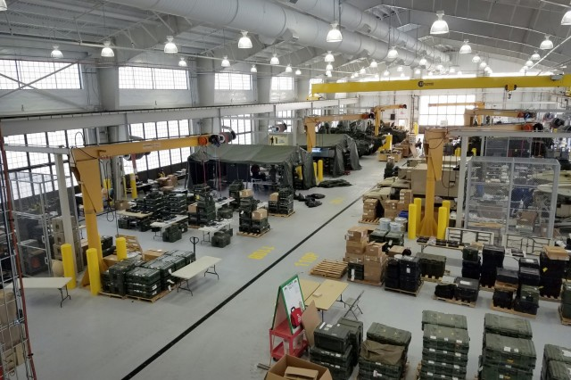 Tobyhanna Army Depot's forward repair facility at Joint Base Lewis-McChord, Washington, brings depot-level repair and overhaul capabilities closer to Army units. Plans call for three forward repair depots to open in the United States this fiscal year. (U.S. Army photo)
