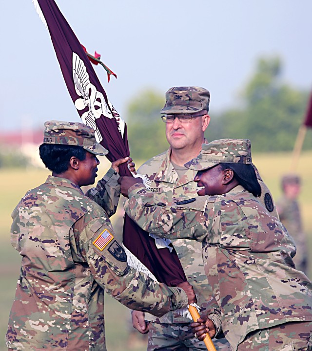 Change of command ceremony for the Eisenhower Army Medical Center