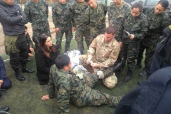 WVARNG conducts knowledge exchange with Peru's army, police