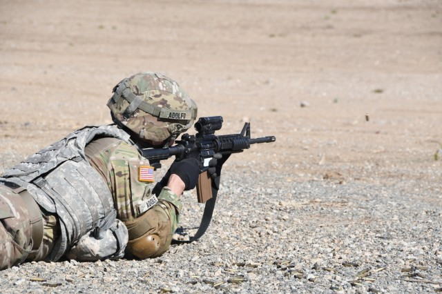 Soldiers from the 79th Infantry Brigade Combat Team conduct Individual Weapons Qualification (IWQ) at Camp Roberts on June 19.