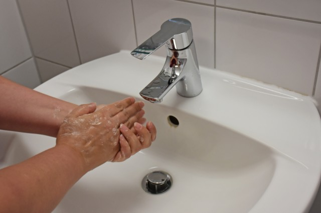 Turning off the water faucet while soaping hands can save up to 70%.