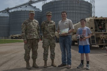 Iowa Army National Guard convoy fuels up at local co-op